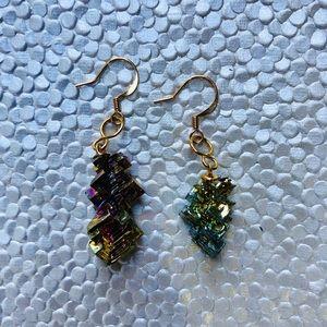 Bismuth Healing Crystal Earrings
